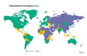Thailand On World Map by 2015 Freedom Maps Freedom House