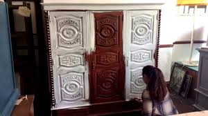 painting a french triple wardrobe first coat of chalk paint