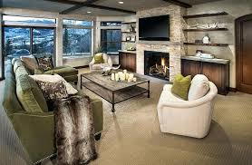 shelf above fireplace view in gallery cozy family room with floating shelves and a above the