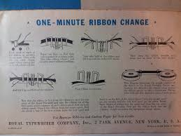 chagne ribbon my of the week a 1947 royal deluxe typewriter luke