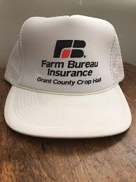 bureau hat vintage farm bureau snapback trucker hat grant county crop hail