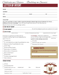 How To Write A Letter Of Intent For A Scholarship montini catholic high letter of intent