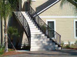 Banister Railing Home Depot Stairs Interesting Outside Stair Railing Outdoor Stair Railing