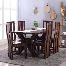 6 seater dining table and chairs clovis capra 6 seater dining table set thearmchair