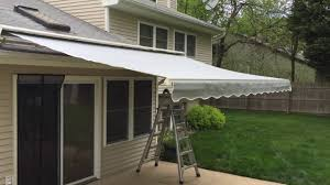 Replacement Retractable Awning Fabric Sunsetter Laminated Fabric Retractable Awning In Middletown Nj