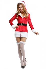 mrs santa claus costume 52 96 sleeves belted mrs santa claus costume for