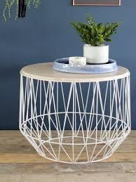 Wire Coffee Table Bloomingville Marble Wire Basket Table S House Coffee Tables