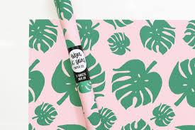 tropical wrapping paper tropical palm leaf wrapping paper monstera leaf gift wrap summer