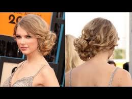 front view of side swept hairstyles messy updo hairstyles how to do taylor swift s messy side swept