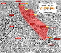 Map Of Atlanta Ga Atlanta U0027s Old Fourth Ward Burned 100 Years Ago This Weekend