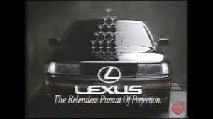 lexus car commercial lexus television commercial 1991