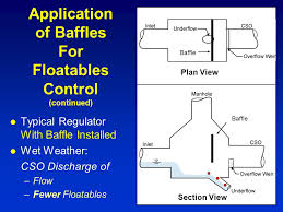 a methodology to design and or assess baffles for floatables