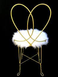 Metal Vanity Stool Vintage Hollywood Regency Gold Metal U0026 Faux Fur Vanity Chair