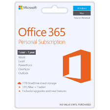 microsoft office 365 personal 1 device 12 months download