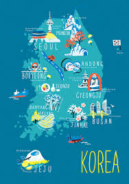 Map Of South Korea Korea Illustrated Maps U2026 Map Pinterest Illustrated Maps