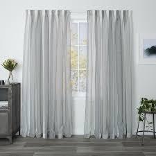 Curtains 240cm Drop Ready Made Mykonos Ash Readymade Sheer Pencil Pleat Curtain Curtain