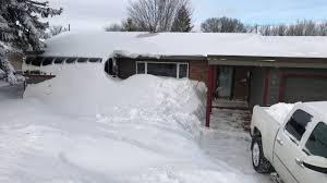 christmas blizzard 2016 bismarck north dakota youtube