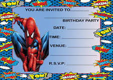 spiderman party invitations ebay
