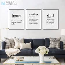 Nordic Home Decor Modern Friend Quotes A4 Poster Nordic Home Decor Wall
