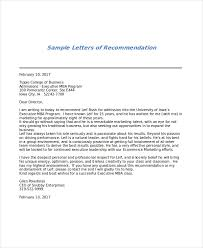 ideas of letter of recommendation for mba from college professor