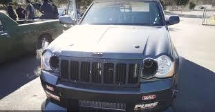 turbo jeep cherokee twin turbo jeep grand cherokee srt8 goes drag racing aims for 8s