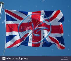 Islam Flag Islam Sign Of Muhammad Emblazoned On The Union Jack Flag Of The