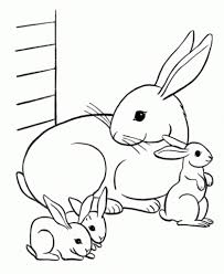 rabbit coloring pages free printable intended to encourage in