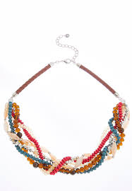 bead necklace jewellery images Twisted bead cord necklace necklaces cato fashions jpg