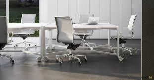 Office Desk With Wheels White Office Desks Hub Desk On Wheels Spaceist Furniture