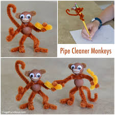 kids u0027 craft pipe cleaner monkeys pipes monkey and craft