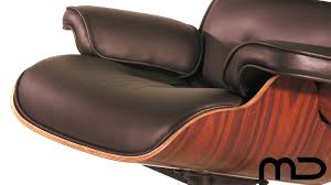 furniture lounge chair and ottoman eames reproduction black