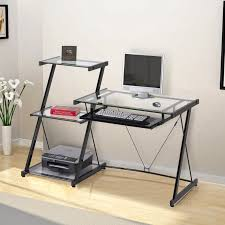z line nero desk and bookcase black walmart com