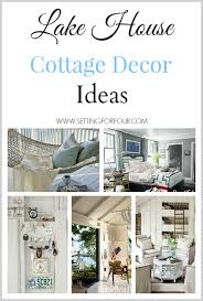 Lake Home Decor Ideas Lake House Cottage Decor Setting For Four