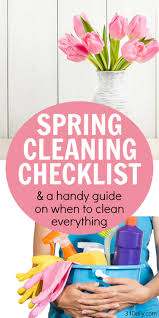 spring cleaning checklist what you should clean yearly 31 daily