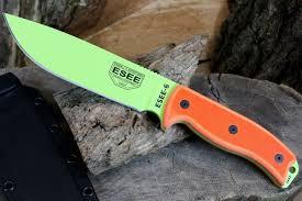 esee kitchen knives esee knives model 6 knife venom green blade orange g10 handles