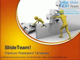 team building up a jigsaw construction powerpoint templates themes