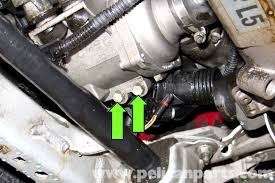2006 bmw 325i thermostat replacement bmw e90 thermostat replacement e91 e92 e93 pelican parts diy