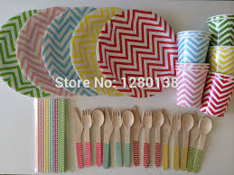 wedding party plates disposable paper plates and cups wedding party supplies chevron