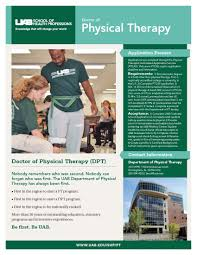 uab shp department of physical therapy of health