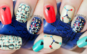 nerdy science nails choose freehand or stamping youtube