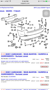lexus es 350 rear bumper replacement rear bumper cost clublexus lexus forum discussion