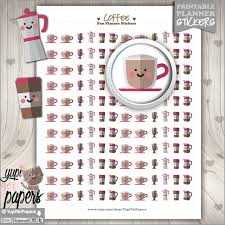 coffee planner stickers printable 50 off coffee stickers planner stickers printable planner