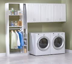 green wall interior room with laundry room cabinets design ideas