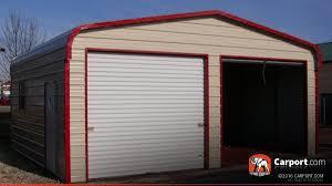 Garage Style by Metal Garage Two Car 18 U0027 X 21 U0027 X 9 U0027 Shop Metal Garages Online