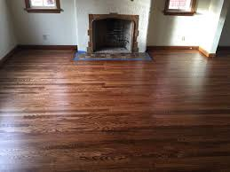 top nailed oak hardwood newly refinished with an early