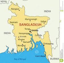 Map Of Bangladesh Peoples Republic Of Bangladesh Vector Map Royalty Free Stock