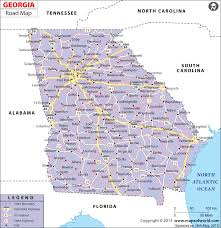 Florida Map Of Cities And Counties Georgia Road Map Georgia Highway Map