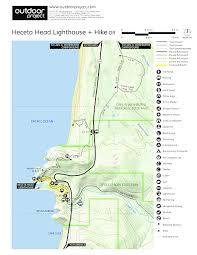 map of oregon lighthouses heceta lighthouse outdoor project