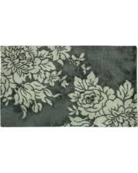 bacova accent rugs savings on bacova cashlon big blooms 20 x 32 accent rug gray
