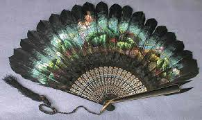 feather fan vintage fan 19th century painted black feather fan 1880 flickr